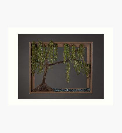 Spring Willow Tree - Dark Art Print