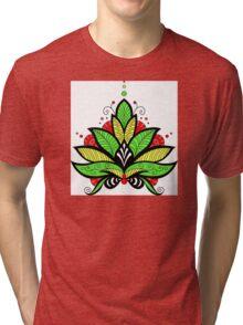 Mandala Roots Digital Illustration Tri-blend T-Shirt