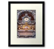 Antwerp Central Station Entrance Framed Print