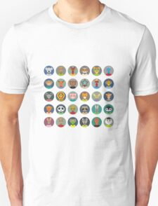 Set of animal faces Unisex T-Shirt