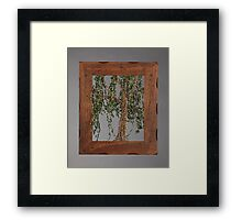 Summer Willow Tree - Dark Framed Print