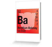 Transformers Periodic - Beryllium Greeting Card