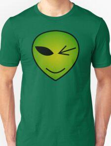 Winking Green Alien Unisex T-Shirt