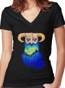 Dovahkitteh Women's Fitted V-Neck T-Shirt