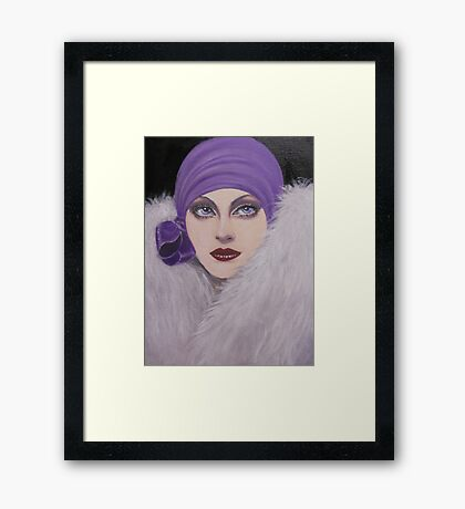 Classic Vintage Beauty Framed Print