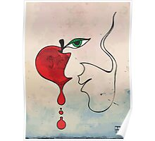 Apple Face (wall art) Poster