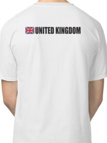United Kingdom, UK, GREAT BRITAIN, GB, Union Jack, British Flag, ON WHITE Classic T-Shirt