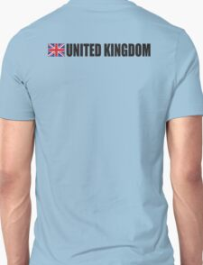 United Kingdom, UK, GREAT BRITAIN, GB, Union Jack, British Flag, ON WHITE Unisex T-Shirt