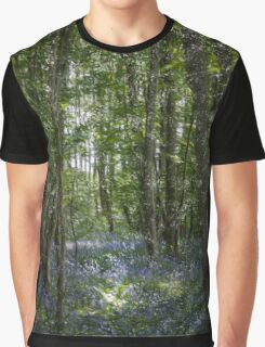 painting style image of bluebell wood in spring Graphic T-Shirt