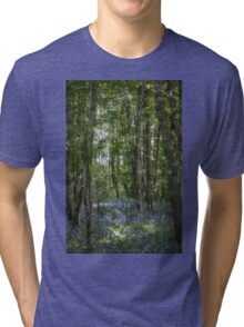 painting style image of bluebell wood in spring Tri-blend T-Shirt