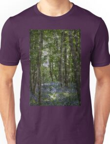 painting style image of bluebell wood in spring Unisex T-Shirt