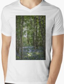 painting style image of bluebell wood in spring Mens V-Neck T-Shirt