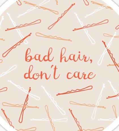 messy hair day Sticker