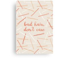 messy hair day Canvas Print