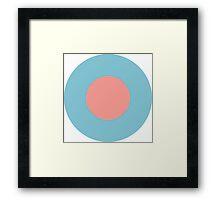 Low Visibility RAF Roundel Framed Print