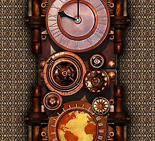 Infernal Vintage Steampunk Timepiece phone cases by Steve Crompton