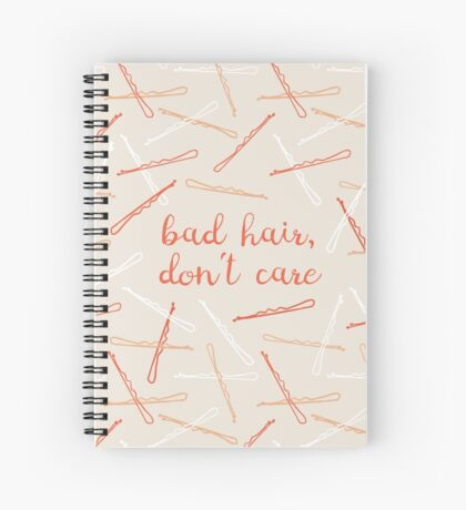 messy hair day Spiral Notebook