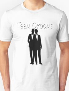 Team Grooms LGBT Gay Pride Wedding Marriage Groom Men #Lovewins T-Shirt