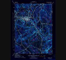 USGS TOPO Map Connecticut CT Willimantic 461118 1945 31680 Inverted Unisex T-Shirt