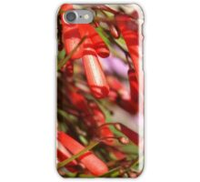 Red bell-shaped flowers... iPhone Case/Skin