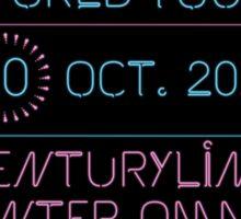 10th October - Centurylink Center Omaha Sticker