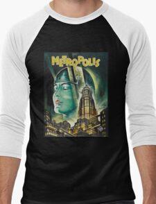 Metropolis 1927 - Movie Poster Men's Baseball ¾ T-Shirt
