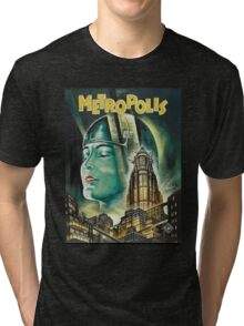 Metropolis 1927 - Movie Poster Tri-blend T-Shirt