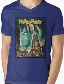 Metropolis 1927 - Movie Poster Mens V-Neck T-Shirt