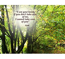 I Am Your Home Photographic Print