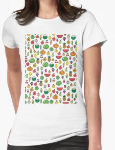 fruits & vegetables Womens Fitted T-Shirt