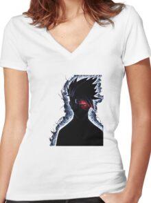 Duplicate Ninja Sensei Women's Fitted V-Neck T-Shirt