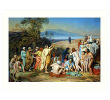 The Apparition of Christ Before the People Art Print