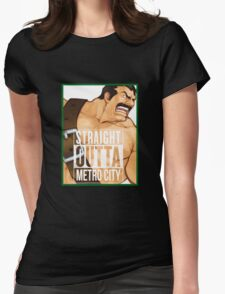 Straight Outta Metro City Womens Fitted T-Shirt