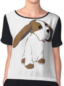 Big earred dog  Chiffon Top