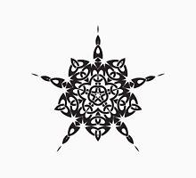 Black and White Celtic Knot Star Unisex T-Shirt