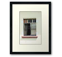 Window With Steel Shutters Framed Print