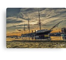 HMS Warrior Sunset Canvas Print