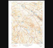 USGS TOPO Map Connecticut CT Montville 330930 1939 31680 Unisex T-Shirt