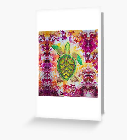 Psychedelic splash  Greeting Card