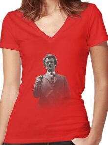Dirty Eastwood Women's Fitted V-Neck T-Shirt