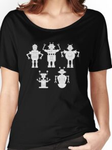 androids b&w Women's Relaxed Fit T-Shirt