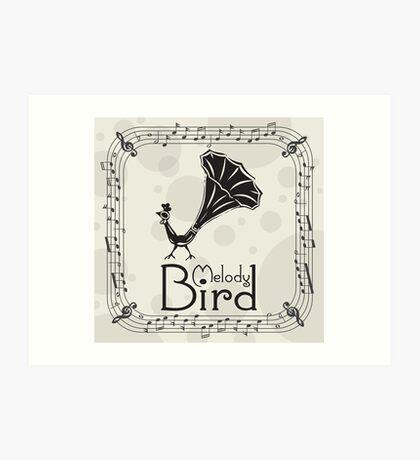 Melody Bird (wall art) Art Print