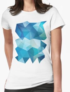 Abstract Geometric Polygon Sea Womens Fitted T-Shirt