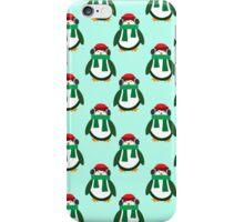 Green Christmas Penguin Pattern iPhone Case/Skin