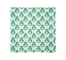 Green Christmas Penguin Pattern Scarf