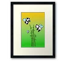 Flying pandas Framed Print