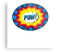 POW! Comic book action Metal Print
