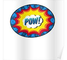 POW! Comic book action Poster
