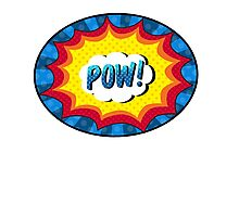 POW! Comic book action Photographic Print