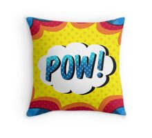 POW! Comic book action Throw Pillow